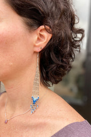 BWilson- Blue/Turq long beaded Earring