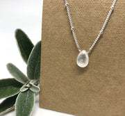 Naked Sage- Rainbow Moonstone - Linnaea Necklace