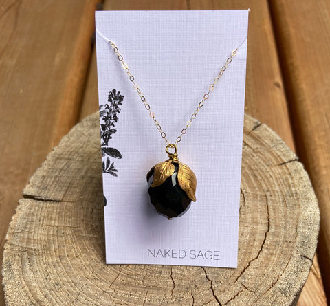 Naked Sage- Onyx- Long Necklace