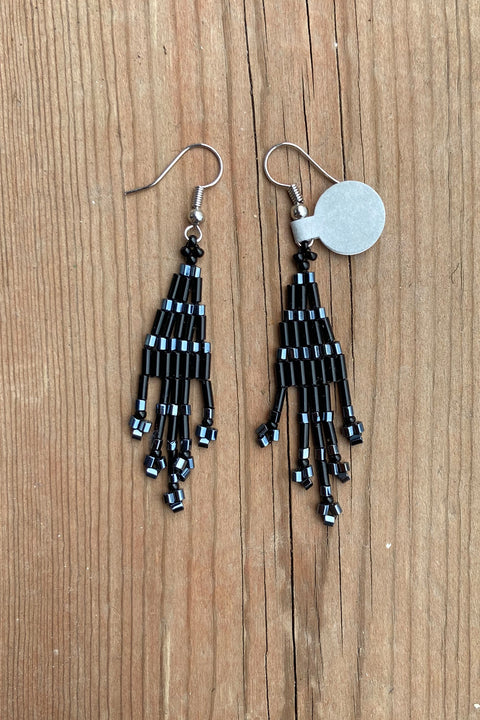 BWilson- Black Petite Beaded Earring