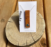 Naked Sage- Wood-Necklace