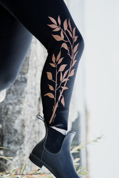 Bamboo ALL Season Legging- Print Northern Willow