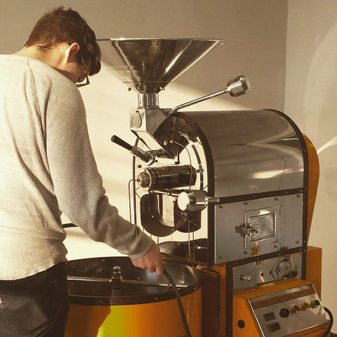 Casey and the Ambex Coffee Roaster