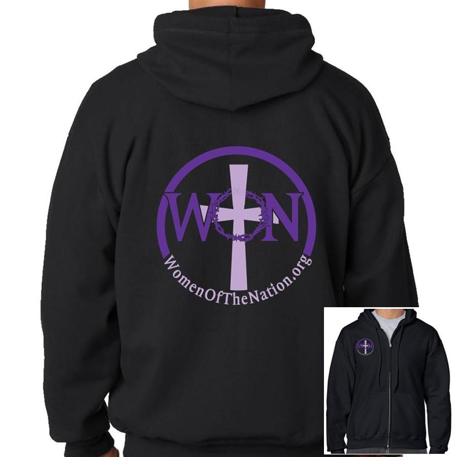 Women Of The Nation  Black Hooded Sweatshirt