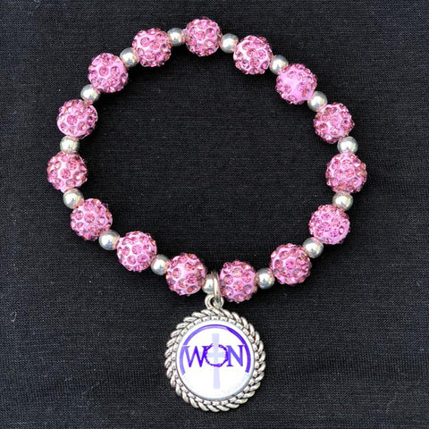 Women Of The Nation Light Purple Beaded Bracelet