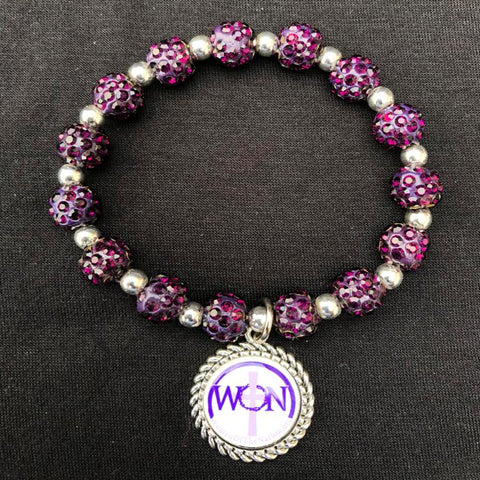 Women Of The Nation Dark Purple Beaded Bracelet