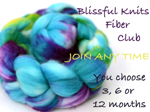 Hand dyed fiber club - 12 months subscription