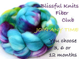Hand dyed fiber club - 3 months subscription