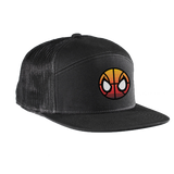 Spida City Edition 7 Panel Patched Trucker Hat (Black)