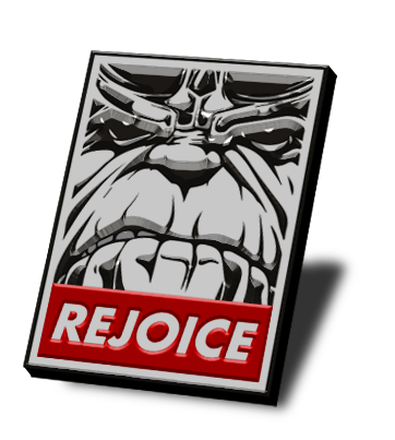 Rejoice Thanos Obey Pin