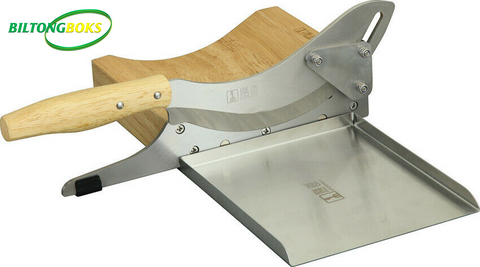 Biltong Slicer Pro with magnetic stainless steel tray