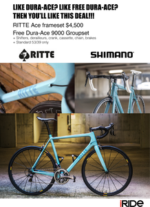 Free Dura Ace groupset with Ritte Ace & Tarmac frames