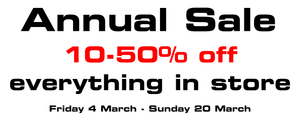 Annual Sale - On now
