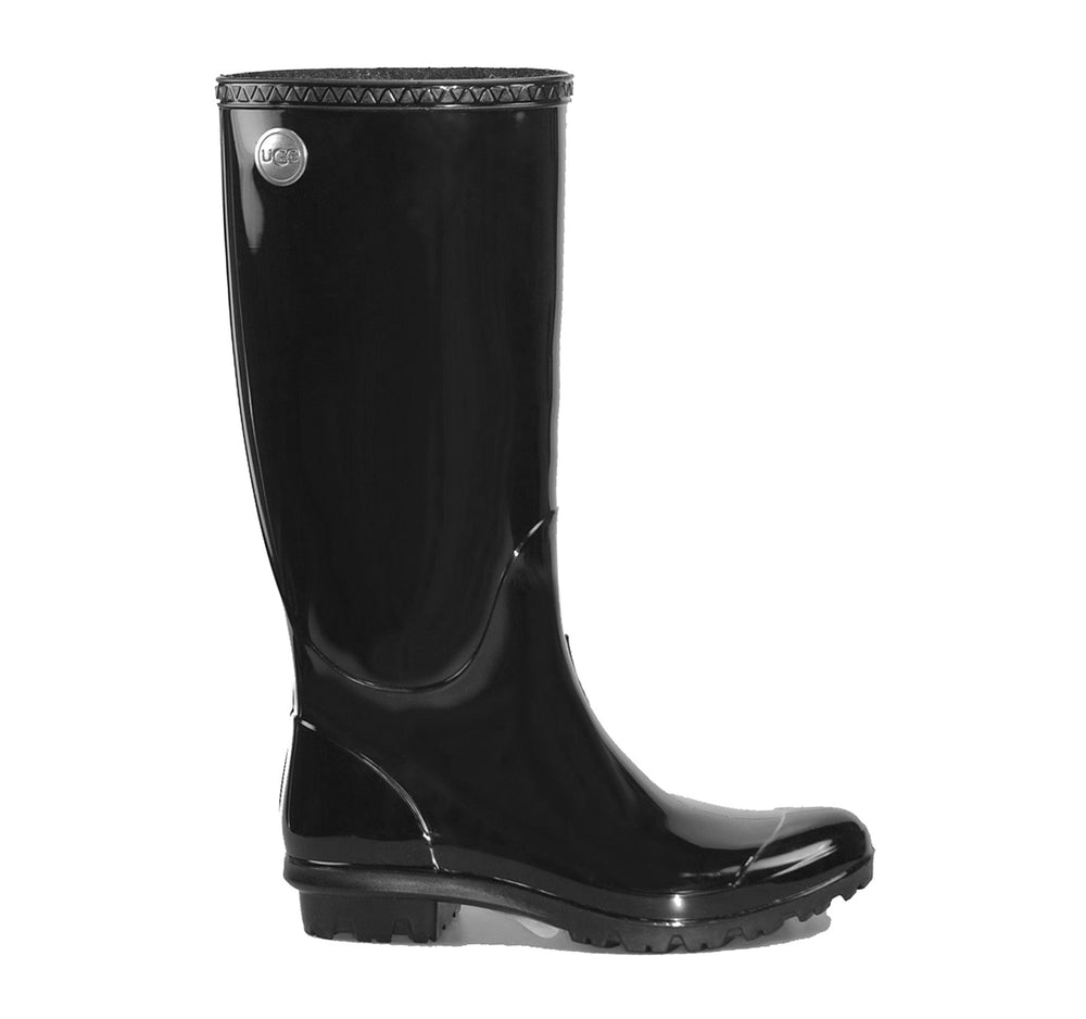 UGG Shaye Tall Rain Boot in Black - UGG - On The EDGE