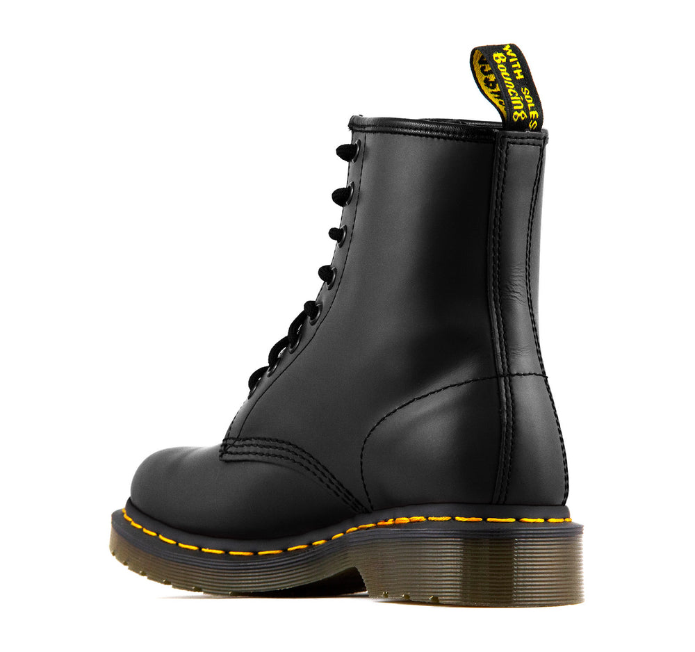 Dr. Martens 1460 8 Eye Smooth Women's Boot in Black - Dr Martens - On The EDGE