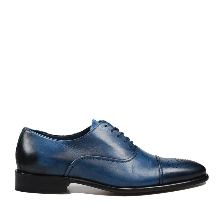 Calzoleria Toscana 2361 Taormina Men's Oxford in Ocean