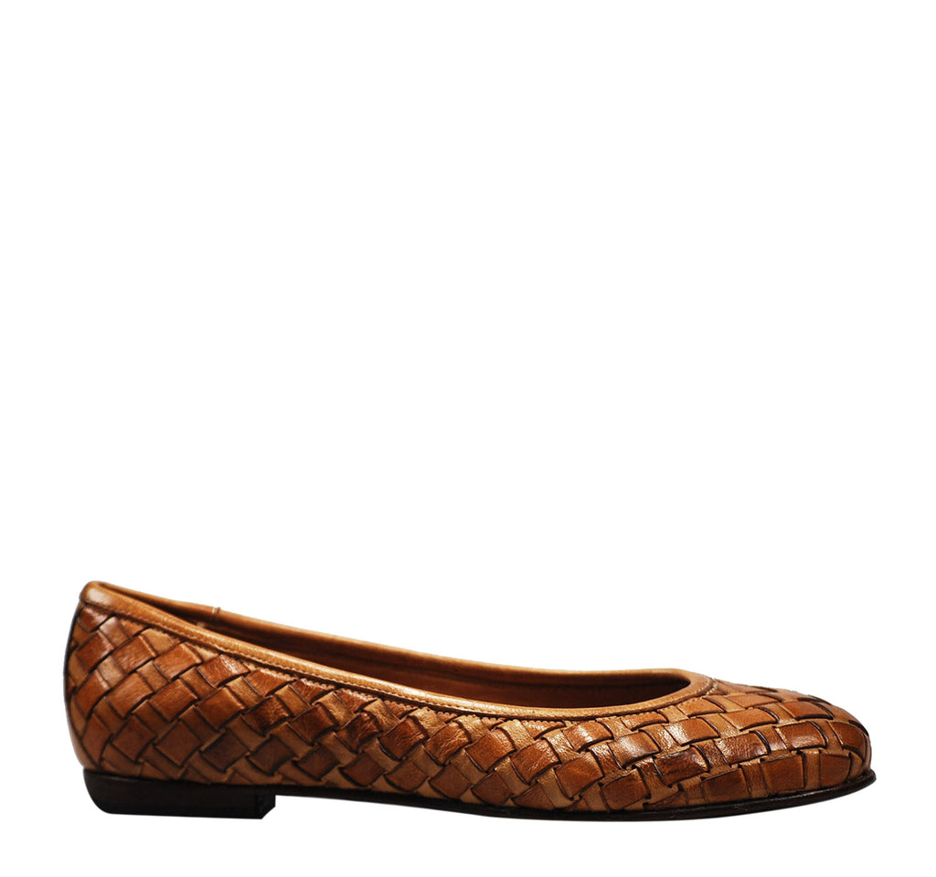 Calzoleria Toscana Melania Woven Flat - On The EDGE