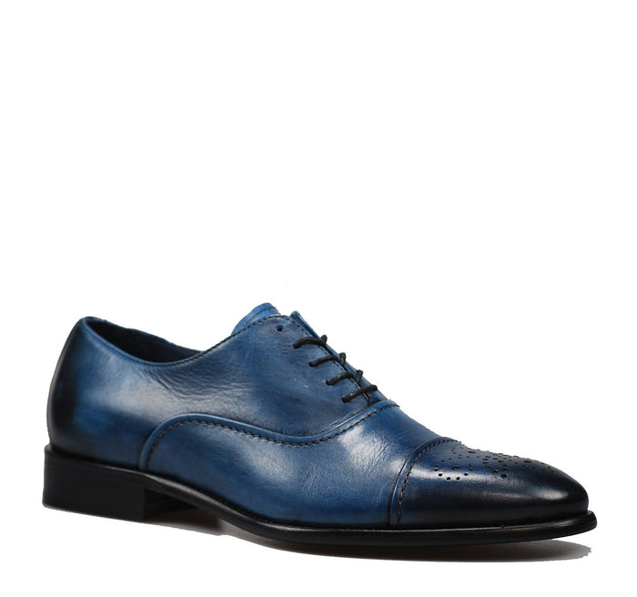 Calzoleria Toscana 2361 Taormina Men's Oxford in Ocean - Calzoleria Toscana - On The EDGE