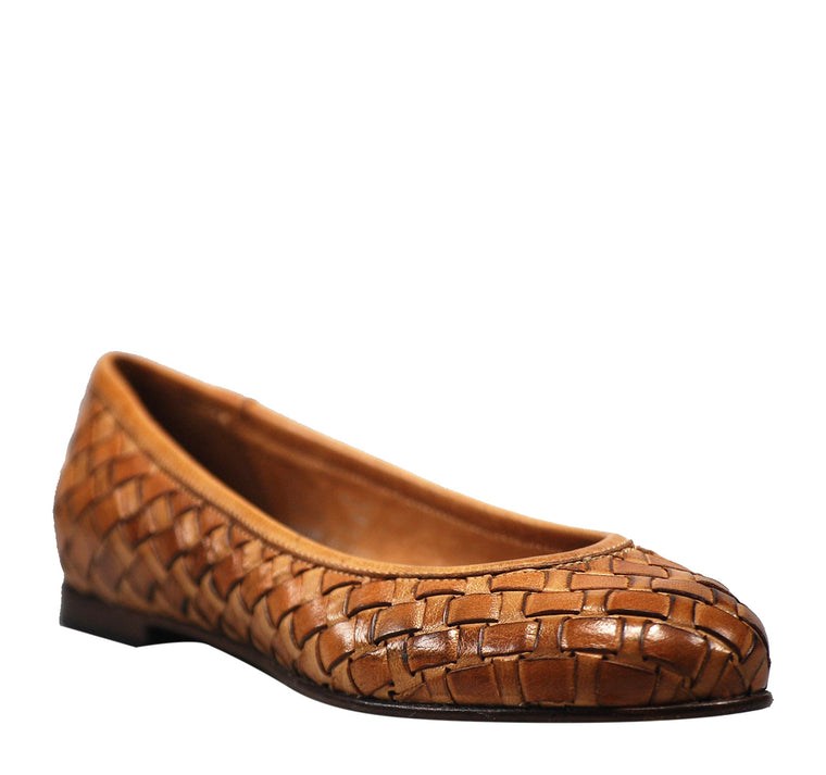 Calzoleria Toscana Melania Woven Flat Women's - Brick - Calzoleria Toscana - On The EDGE