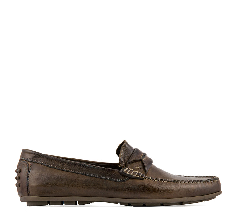 Calzoleria Toscana Positano Men's Loafer in Brown