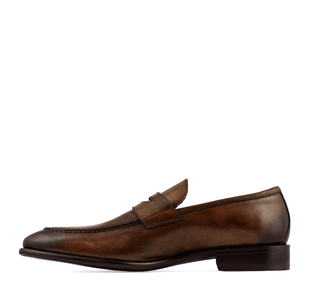 Calzoleria Toscana Men's Penny Loafer in Cerris