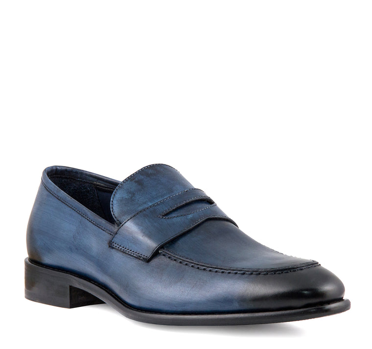 Calzoleria Toscana Penny Loafer - Ocean - Calzoleria Toscana - On The EDGE