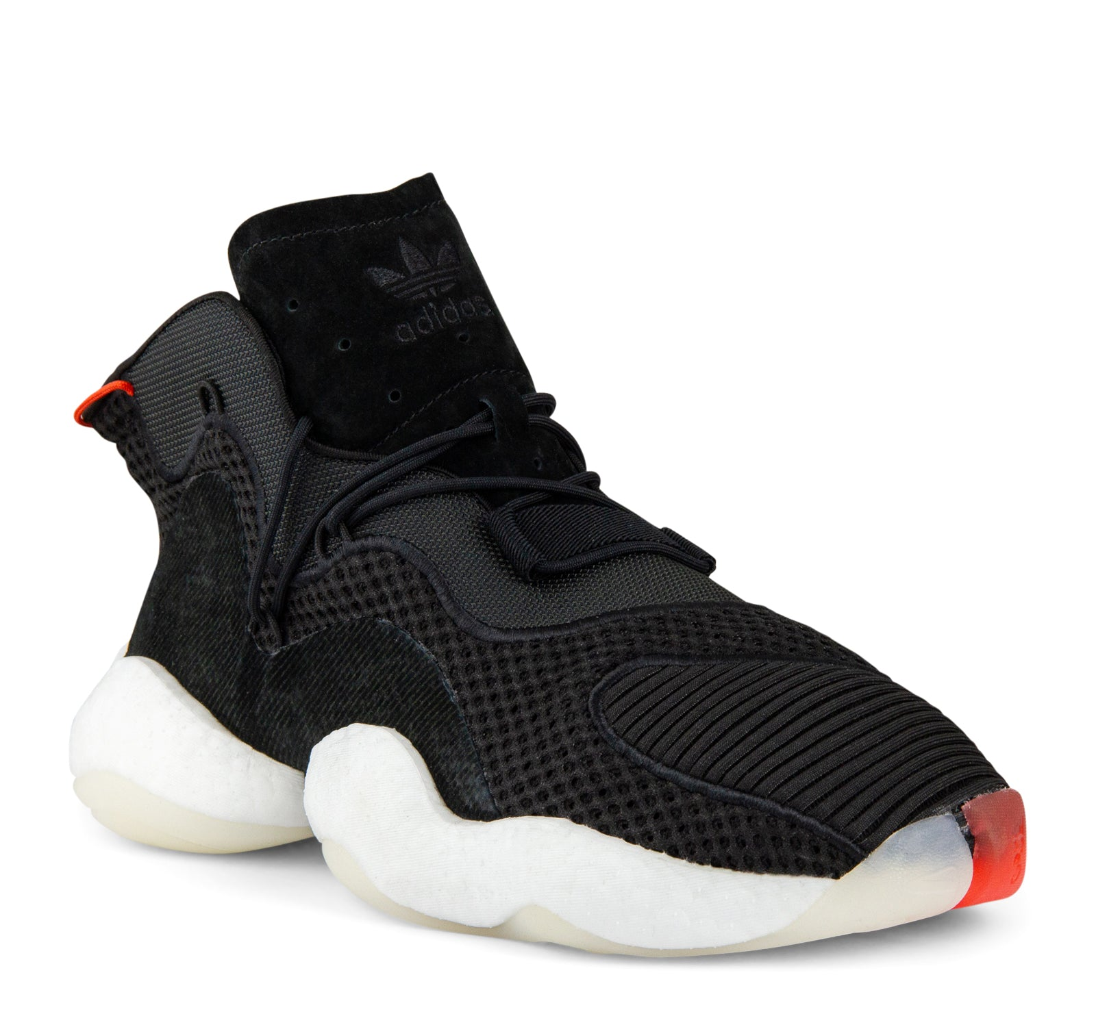 newest 2d152 26586 ... Adidas Crazy BYW B37480 Mens Sneaker in Black and White - Adidas - On  The EDGE ...