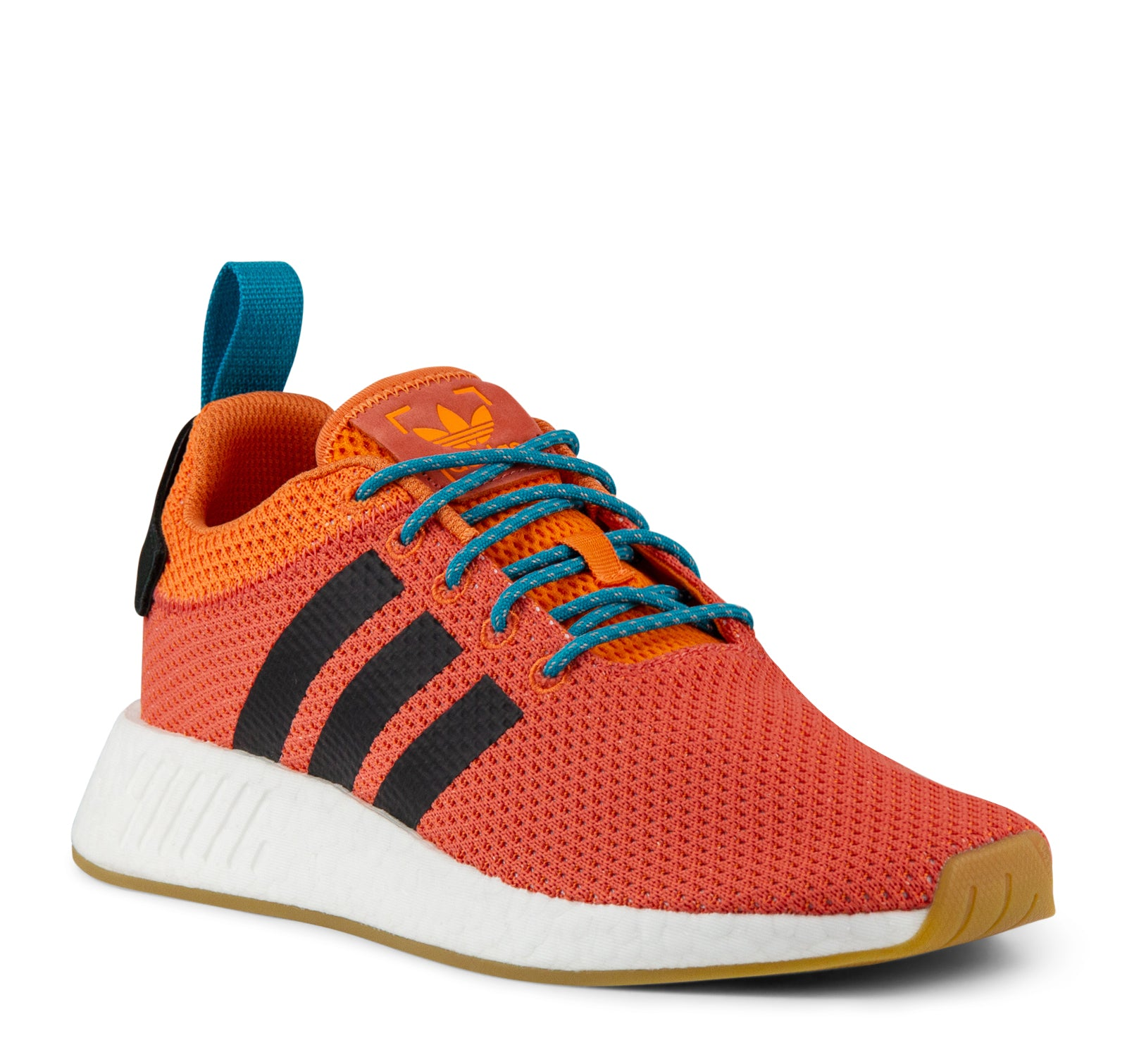 260b963e91962 ... Adidas NMD R2 Summer CQ3081 Men s Sneaker in Orange and White - Adidas  - On The ...