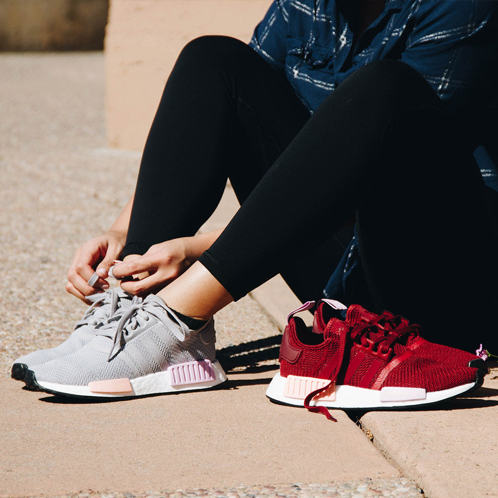 60e7f92ace4f0 ... Adidas NMD R1 B37646 Women s Sneaker in Burgundy - Adidas - On The EDGE  ...