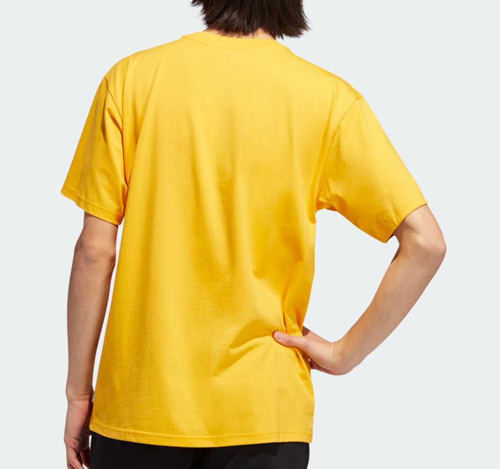 Adidas BB Pillar Tee in Gold and White - Adidas - On The EDGE