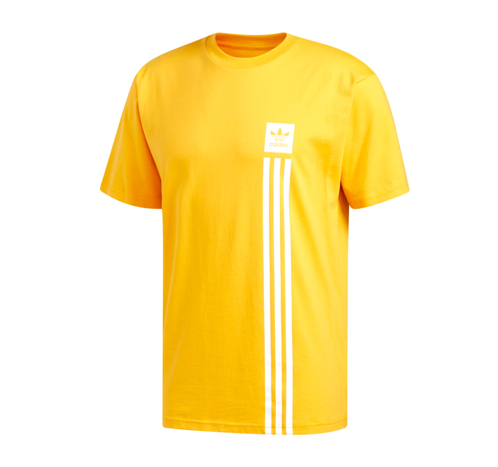 Adidas BB Pillar Tee in Gold and White