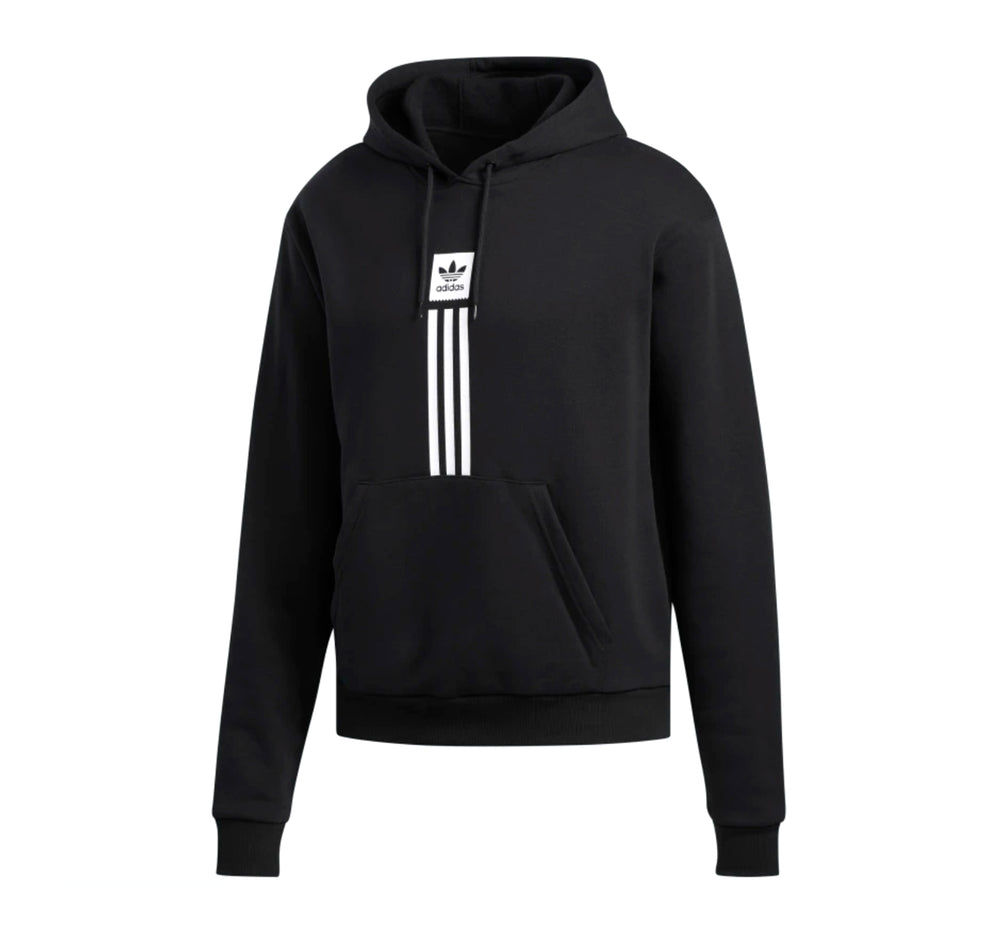 Adidas Solid Pillar Hoodie in Black - Adidas - On The EDGE