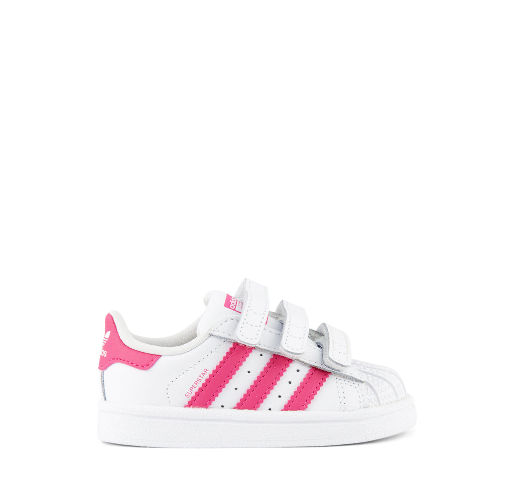 Adidas Superstar CF I CG6638 Girls' Sneaker in White and Pink - Adidas - On The EDGE