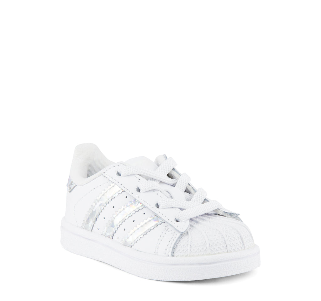 Adidas Superstar EL I CG6707 Kids' Sneaker in White and Silver - Adidas - On The EDGE