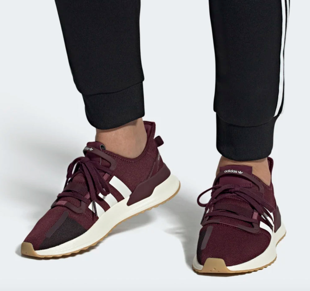 Adidas U_Path Run EG7803 in Maroon and Off White - Adidas - On The EDGE