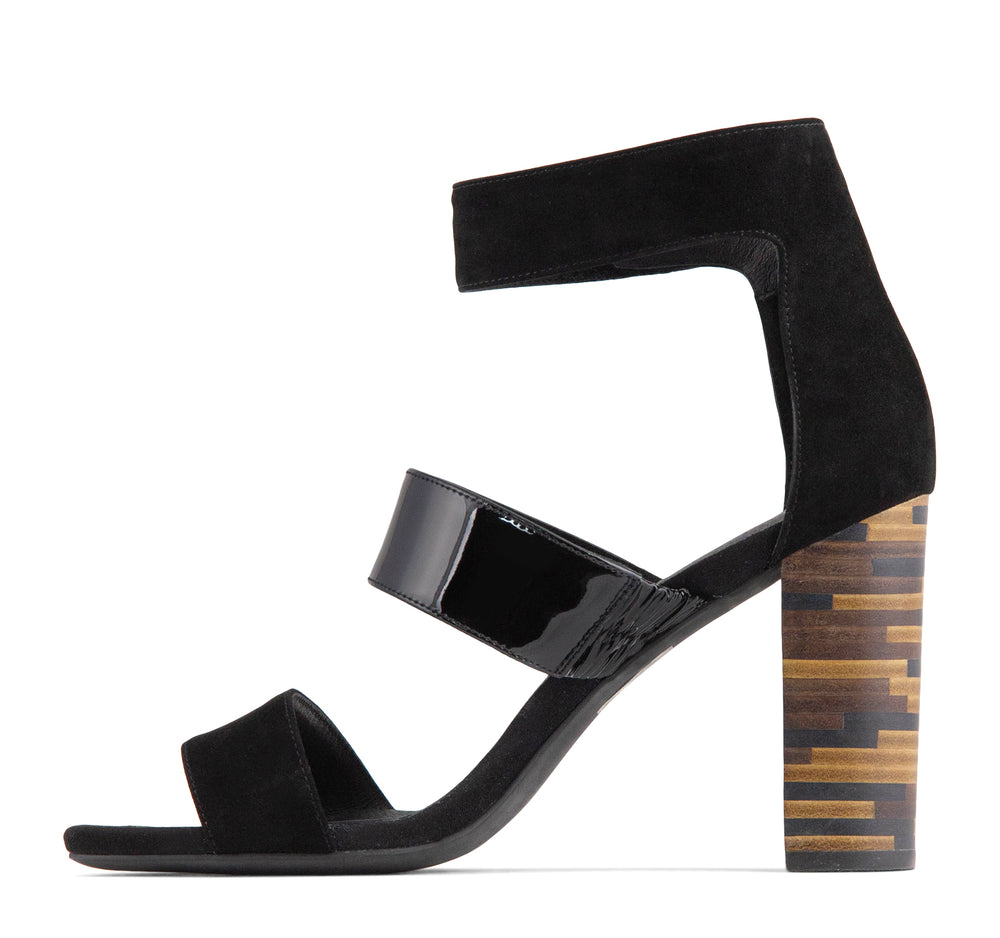 Jeffrey Campbell Adrena Women's Ankle Strap Sandal in Black - Jeffrey Campbell - On The EDGE