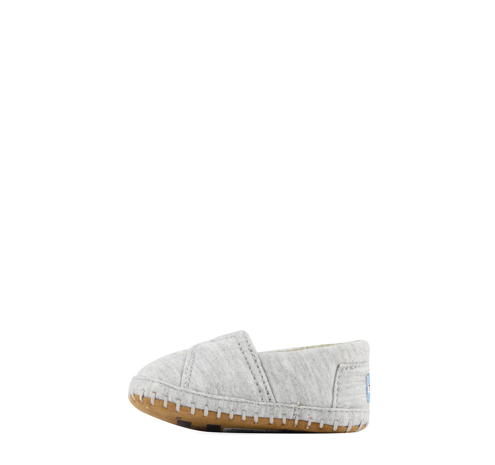 Toms Crib Alpargata Infant Shoe in Grey Jersey - Toms - On The EDGE