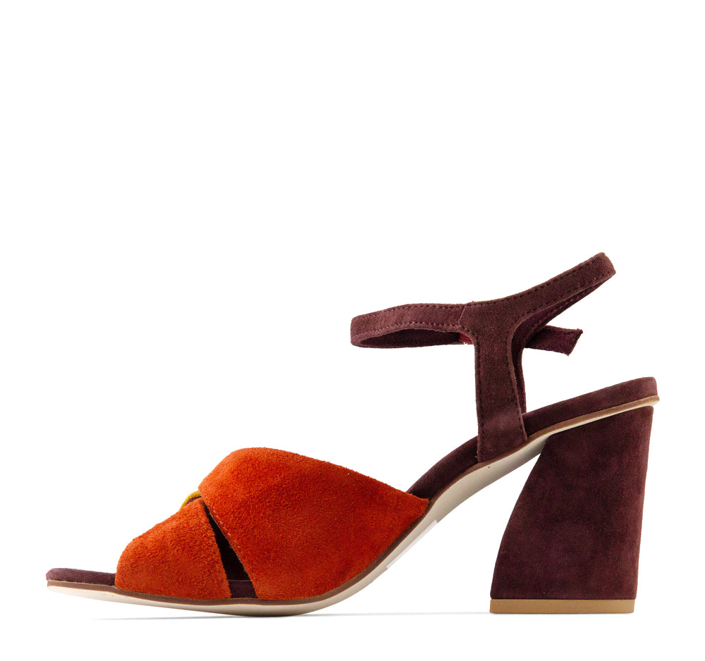 Jeffrey Campbell Antique Women's Sandal in Wine Suede - Jeffrey Campbell - On The EDGE