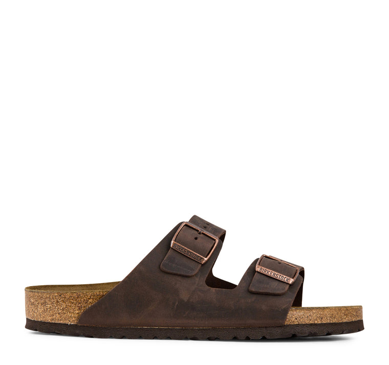 Birkenstock Arizona Soft Footbed Oiled Leather Sandal in Habana
