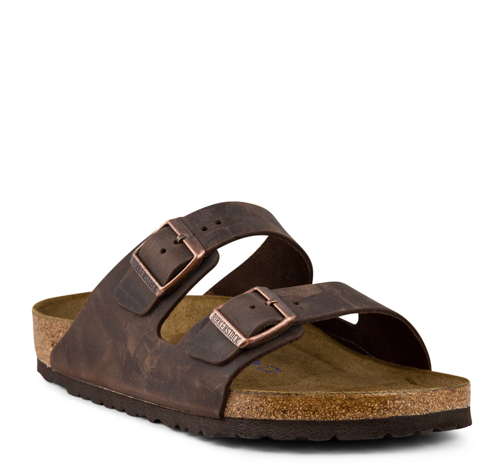 Birkenstock Arizona Soft Footbed Oiled Leather Sandal in Habana - Birkenstock - On The EDGE