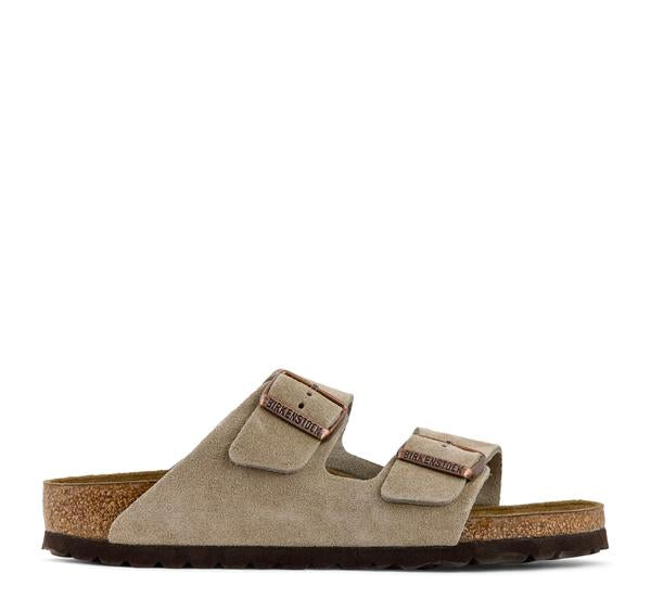 Birkenstock Arizona Soft Footbed Suede Sandal in Taupe