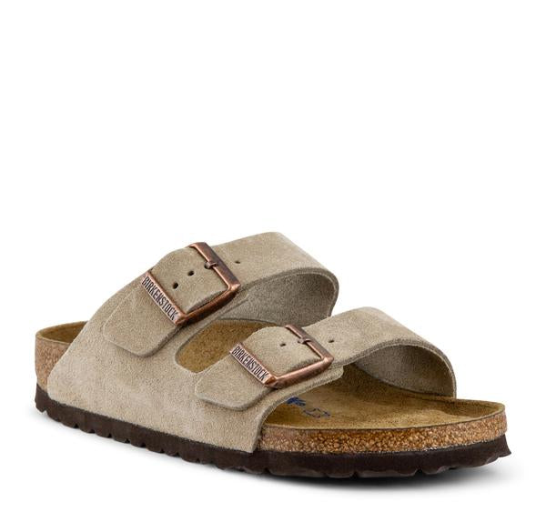 Birkenstock Arizona Suede Women's Sandal in Taupe