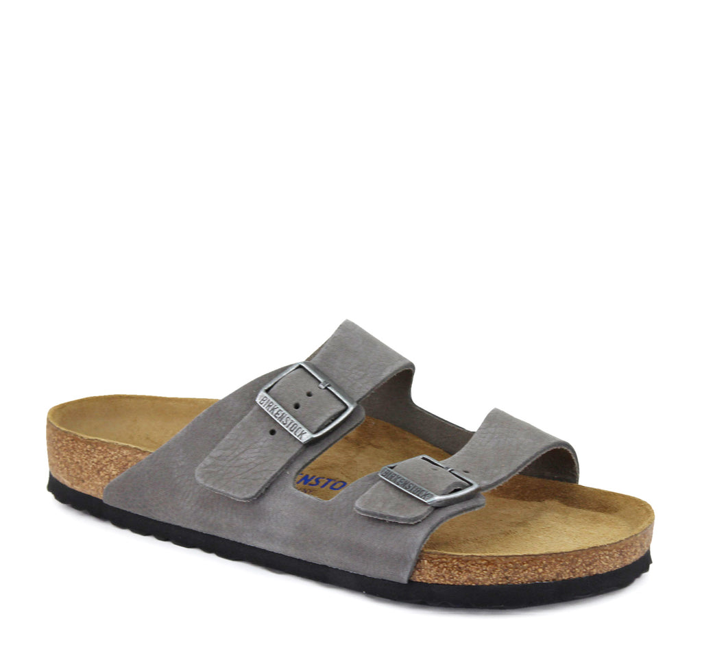 Birkenstock Arizona Soft Footbed Nubuck Sandal - Birkenstock - On The EDGE