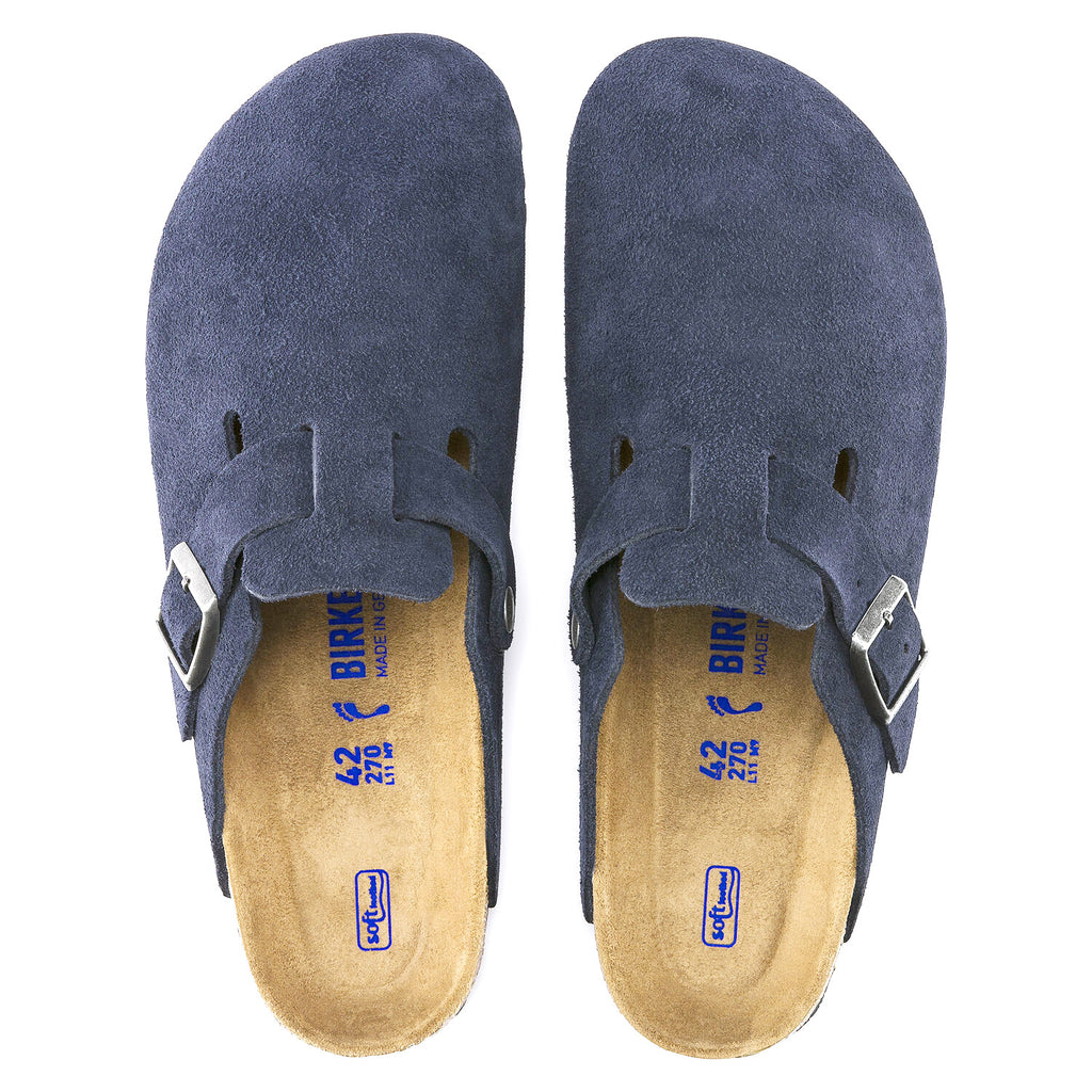 Birkenstock Boston Soft Footbed Suede Clog - Birkenstock - On The EDGE