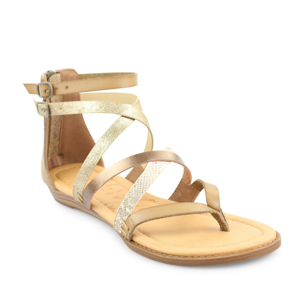 Blowfish Bungalow Sandal in Sand Amber - Blowfish Malibu - On The EDGE