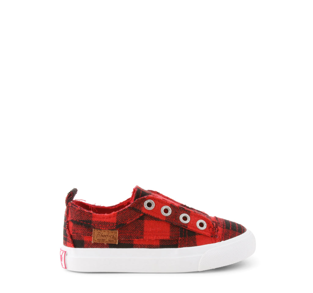 Blowfish Play Slip-On Toddlers' Sneaker in Red Buffalo Check - Blowfish Malibu - On The EDGE