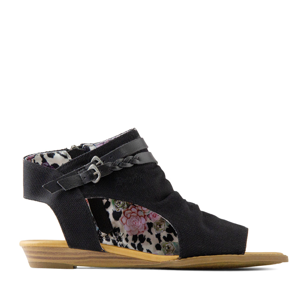 Blowfish Blumoon Sandal in Black Rancher - Blowfish Malibu - On The EDGE