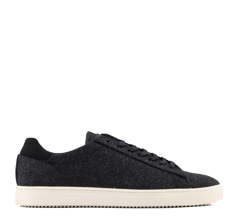 Clae Bradley Textile Men's Sneaker in Black and Cream