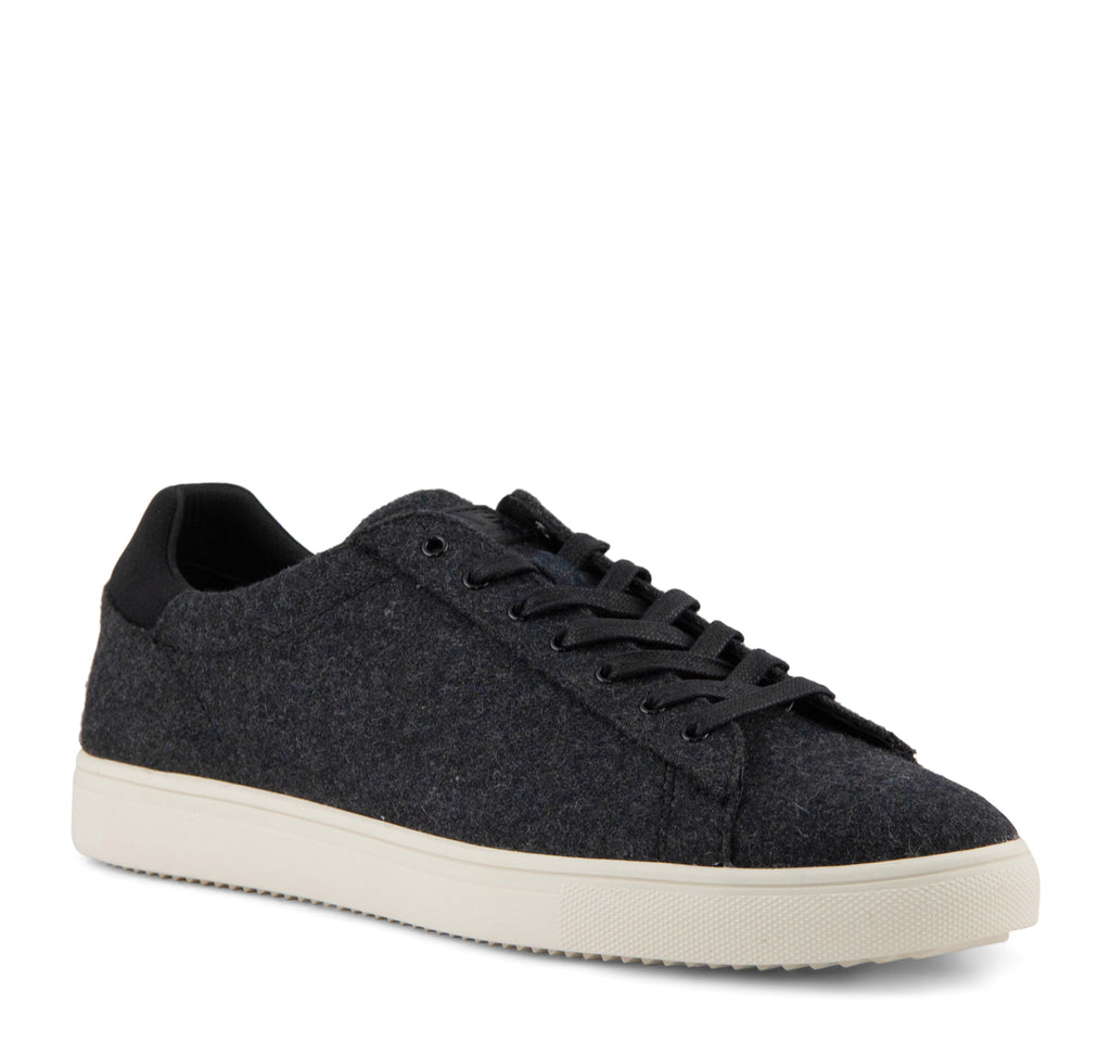 Clae Bradley Textile Men's Sneaker in Black and Cream - Clae - On The EDGE