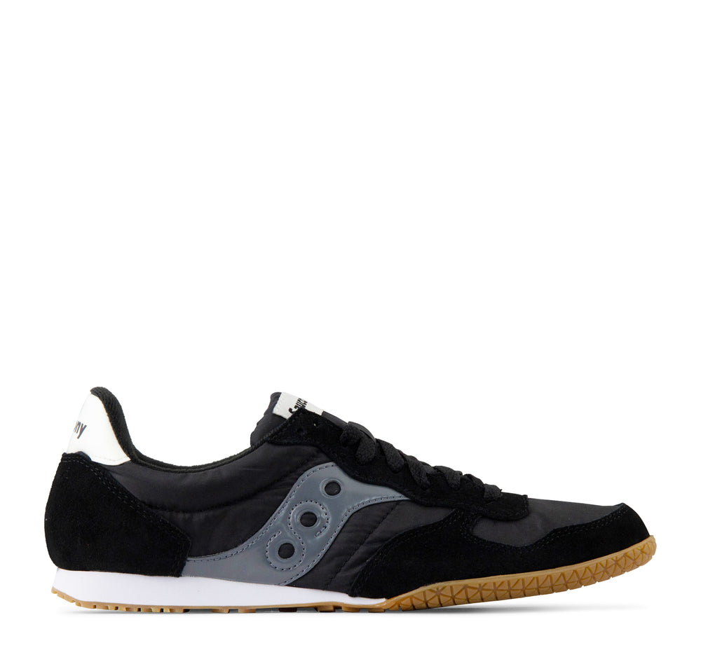 Saucony Bullet Sneaker in Black and Gum - Saucony - On The EDGE